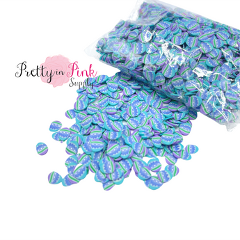 Blue Multi Egg Confetti Loose CLAY Slices
