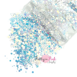 Frosted Snow Chunky/Fine MIX | 1/2 oz. Loose Glitter