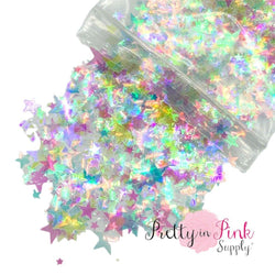 Holographic Shooting Star Chunky/Fine MIX | 1/2 oz. Loose Glitter