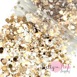 Toasty Marshmallow Chunky MIX | 1/2 oz. Loose Glitter