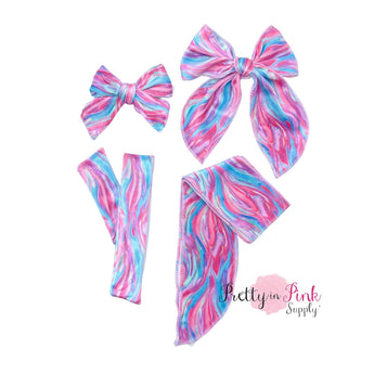 Magical Marble Swirl | Velvet Bow Strips - Pretty in Pink Supply