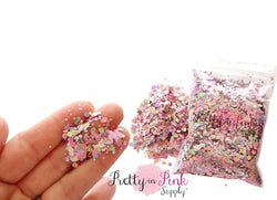 Pink Mauve Mixed Color Confetti Loose Glitter