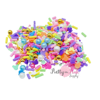 Mouse Sprinkle Mix | Confetti Loose CLAY - Pretty in Pink Supply