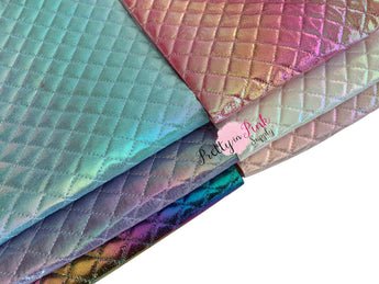 Quilted Metallic Puffer Canvas Sheets - Pretty in Pink Supply