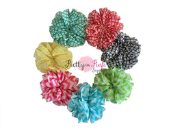 PRINT Large Double Ruffle Flowers