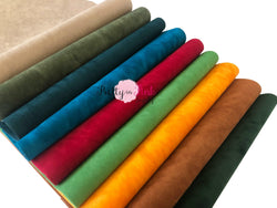 DOUBLE SIDED Suede Fabric Sheets