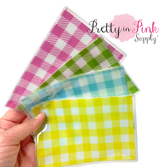 Plaid PVC Sealed Shaker Sleeve