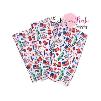 Proud To Be An American | Liverpool Fabric - Pretty in Pink Supply