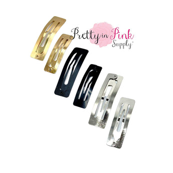 Rectangle Snap Clips - Pretty in Pink Supply