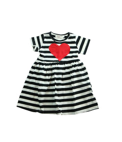 Black/White Stripe Heart Dress