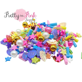 Seashell Sprinkle Pearl Mix | Confetti Loose Clay - Pretty in Pink Supply
