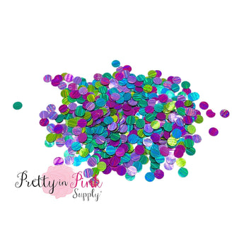 Under the Sea Holographic Dot | Loose Sequin Glitter - Pretty in Pink Supply