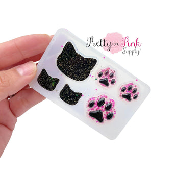 Cats and Paw Prints | Silicone Mold - Pretty in Pink Supply