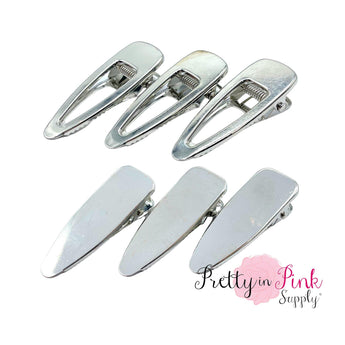 Silver Duck Bill Clips - Pretty in Pink Supply