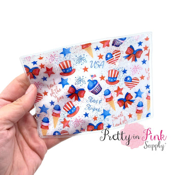Sweet Land of Liberty | Patterned PVC Sealed Shaker Sleeve - Pretty in Pink Supply
