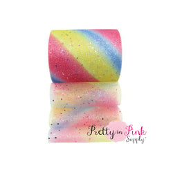 Rainbow Glitter Tulle - Pretty in Pink Supply