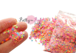 Fruity NEON Mixed Confetti Loose Glitter