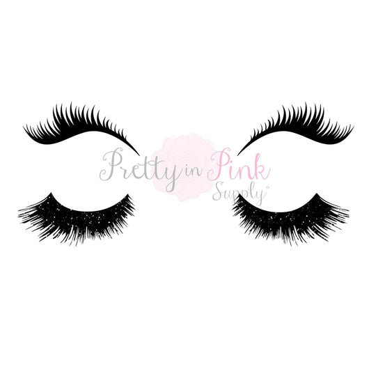 Black Eyelash SET Iron Ons