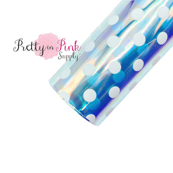 White Polka Dot Iridescent | Jelly Sheet