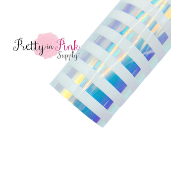 White Stripe Iridescent | Jelly Sheet