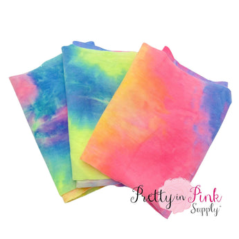 Yellow Pink Blue Tie Dye | Jersey Stretch Fabric