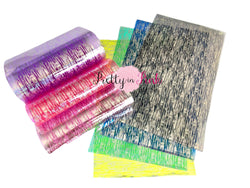 Metallic Silver Streak Jelly Sheets