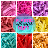PLASTIC Translucent Alligator Clips with Teeth 1.75""