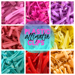 PLASTIC Translucent Alligator Clips with Teeth 1.75