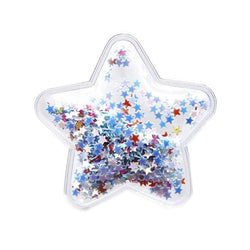 4th of July CLEAR Inflated Confetti STARS