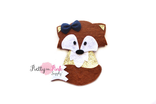 Brown FOX Felt/Glitter - Pretty in Pink Supply