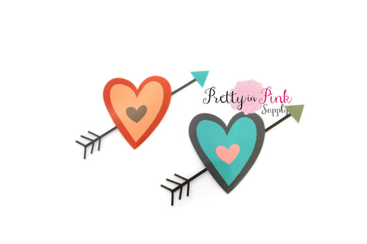 Heart and Arrow Iron On - Pretty in Pink Supply