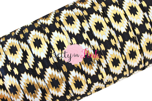 Southwest Aztec Black, White, and Gold - Pretty in Pink Supply