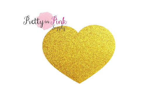 Gold Heart GLITTER Iron On