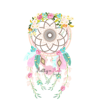 Floral Dream Catcher Iron On - Pretty in Pink Supply