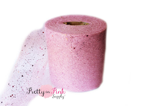 Pink Mauve Glitter Tulle - Pretty in Pink Supply