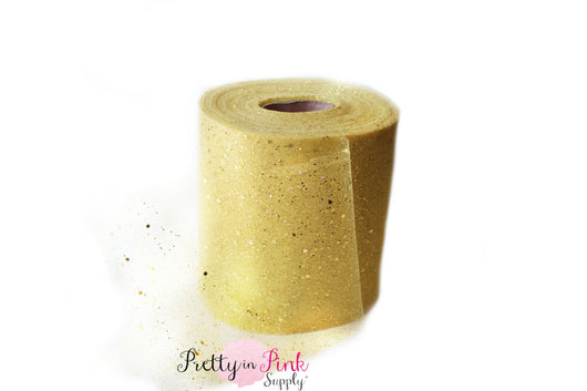 GOLD Glitter Tulle - Pretty in Pink Supply