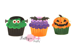 Halloween Cupcake Iron On - Pretty in Pink Supply