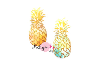 Ombre Pineapple Iron On - Pretty in Pink Supply