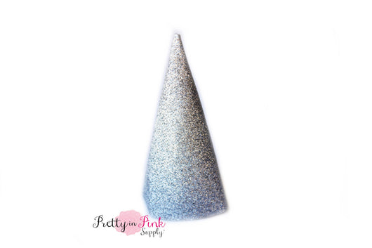 Silver Glitter Party Hat- 4.5