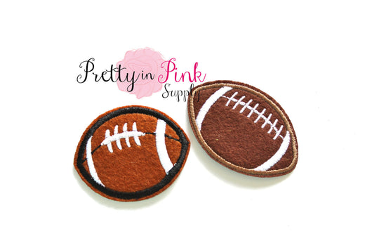 Mini Football Patch Iron On Patch - Pretty in Pink Supply