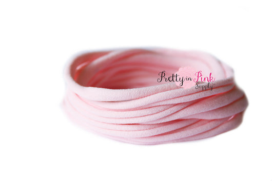 Pale Pink THIN Nylon Headband - Pretty in Pink Supply