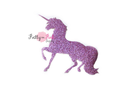 Pink Lilac Unicorn Glitter Iron On - Pretty in Pink Supply