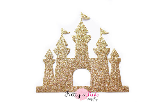 Gold Castle Glitter Iron On - Pretty in Pink Supply