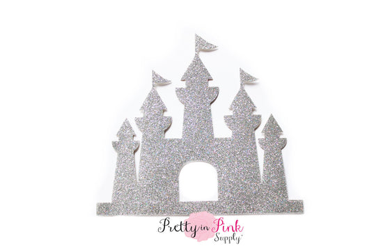 Silver Castle Glitter Iron On - Pretty in Pink Supply