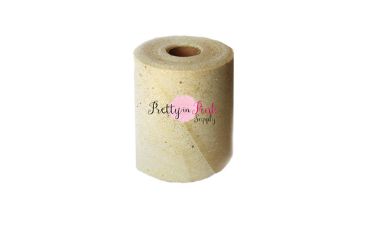 Ivory/ Gold Glitter Tulle - Pretty in Pink Supply