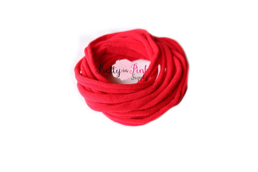 Red THIN Nylon Headband - Pretty in Pink Supply