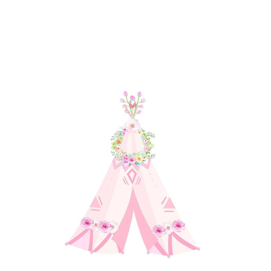PINK Floral Teepee Iron On
