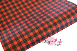 Red/Black Buffalo Plaid Shimmer Glitter Sheet