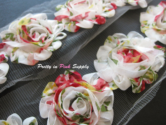 Vintage Rose Shabby Rose Trim - Pretty in Pink Supply