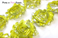 Shiny Yellow Shabby Rose Trim - Pretty in Pink Supply